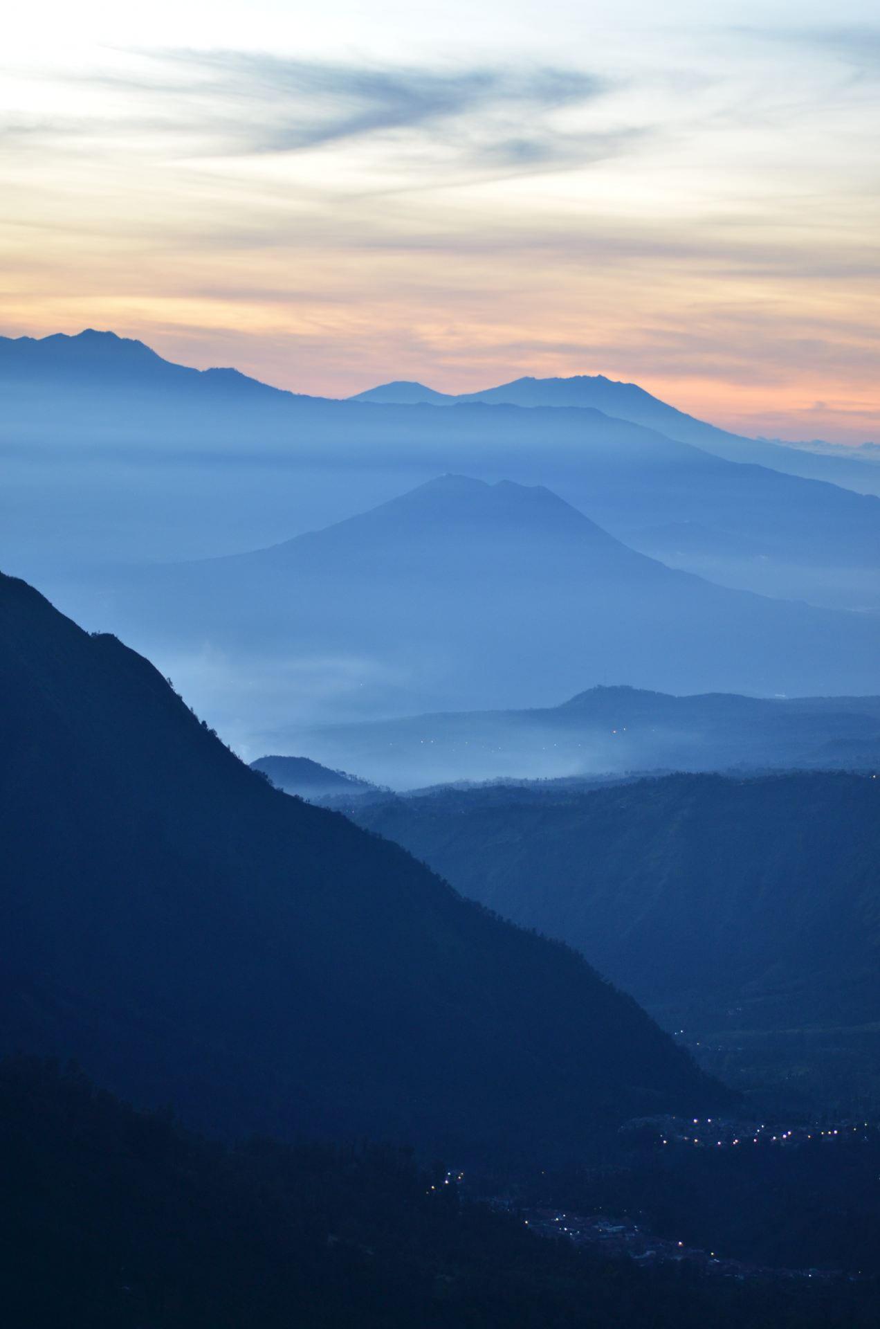 Sun rising over Mount Bromo, Indonesia