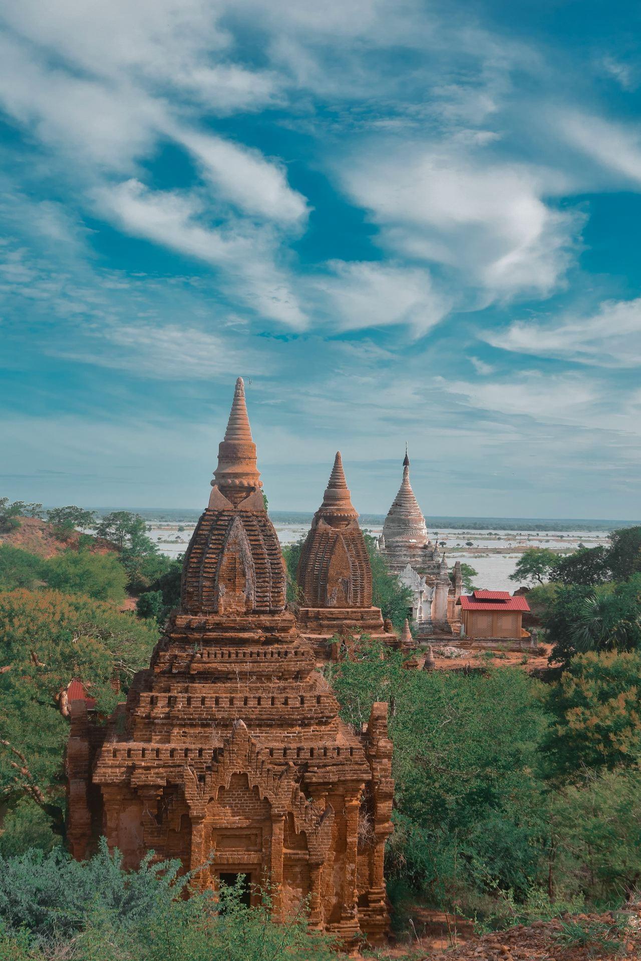 Aerial view of Bagan, Myanmar