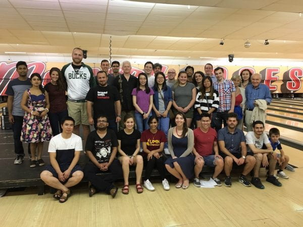 Cramer and Gagliardi groups at bowling alley