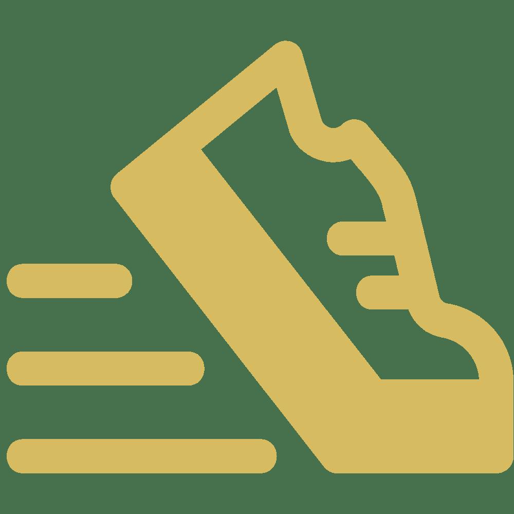 golden track shoe