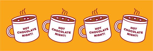 hot chocolate night UChicago header