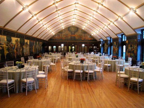 Ida Noyes Third Floor Theater in Banquet Style