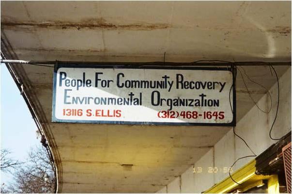 Sign saying PCR