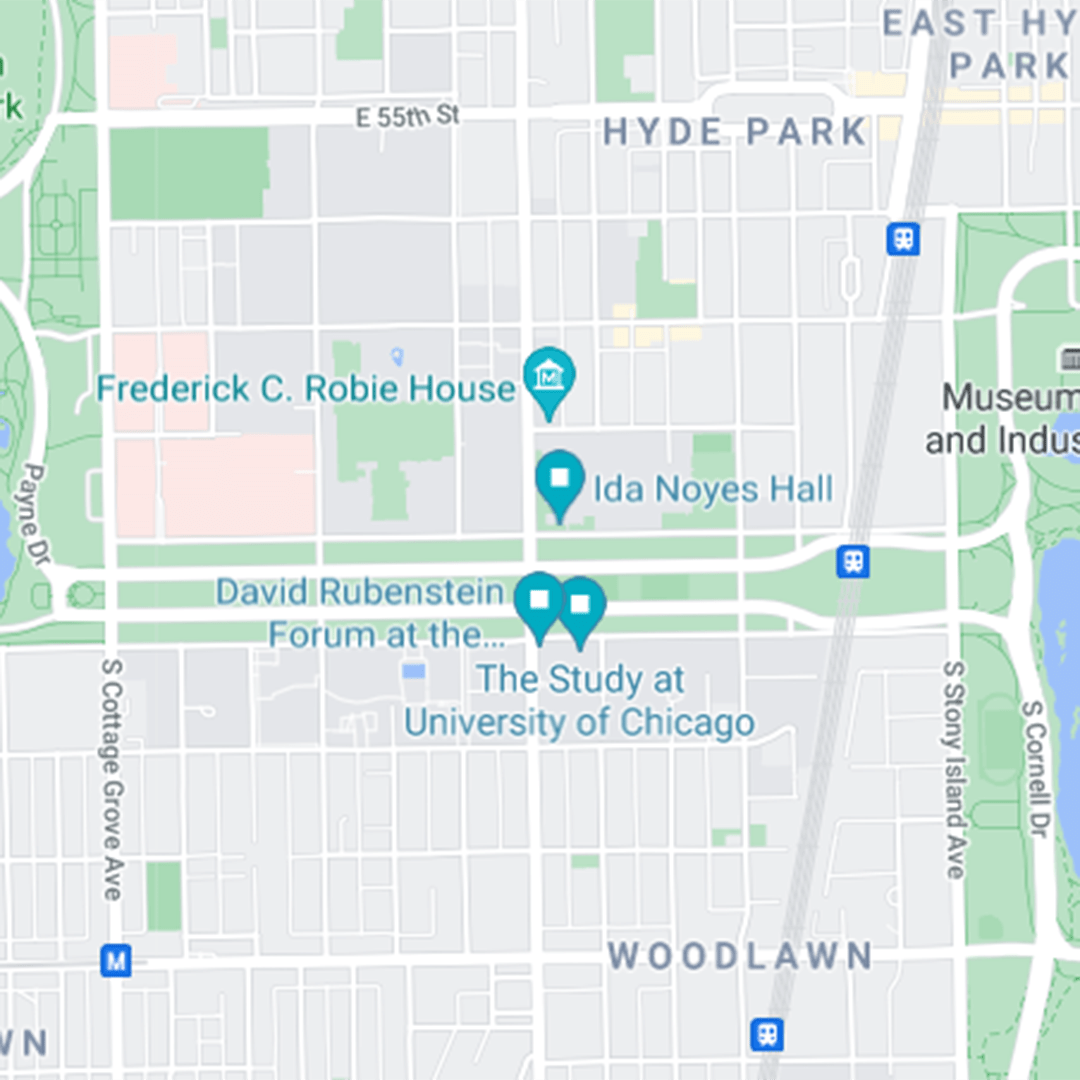 Linked map to event locations for PME 10-Year Anniversary on Google Maps