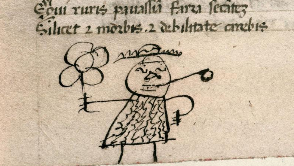 Medieval doodling from Carpentras, Bibl. mun., ms. 0368, f. 064v