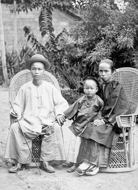 Peranakan Chinese family, circa 1890