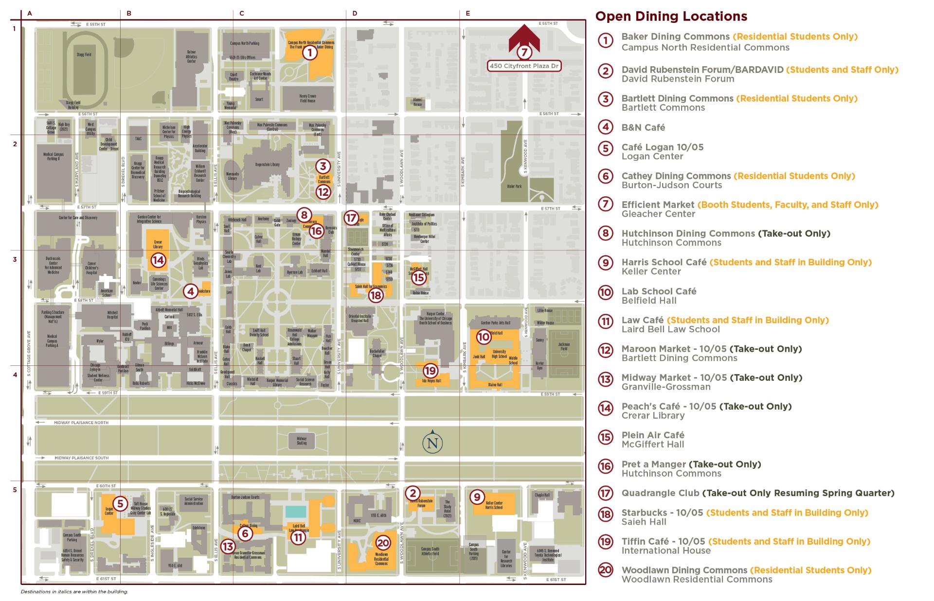 Campus Dining Map