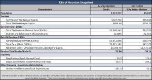 city of Houston statistical snapshot