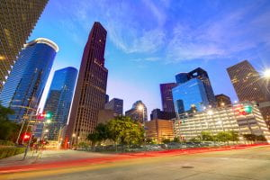Houston, Texas Downtown. One of the cities served by Texas Children's photo