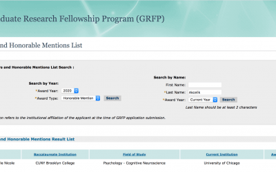 Doctoral student Gaby Akcelik won Honorable Mention from NSF Graduate Research Fellowship Program (GRFP)