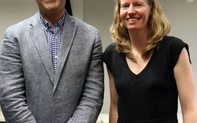 Professor Berman and Ph.D. student Kate Schertz win first place and grand prize in UChicago's App Challenge with their app, ReTUNE, which will create more restorative pedestrian experiences