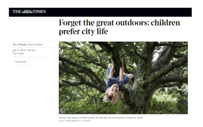 """The Times: """"Forget the great outdoors: children prefer city life"""""""