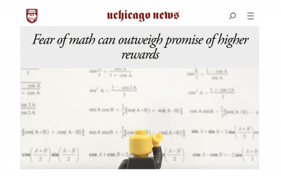 """the University of Chicago News: """"Fear of math can outweigh promise of higher rewards"""""""