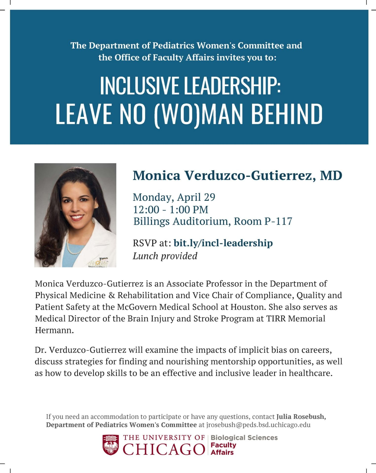 Inclusive Leadership Lecture | BSD Faculty Affairs