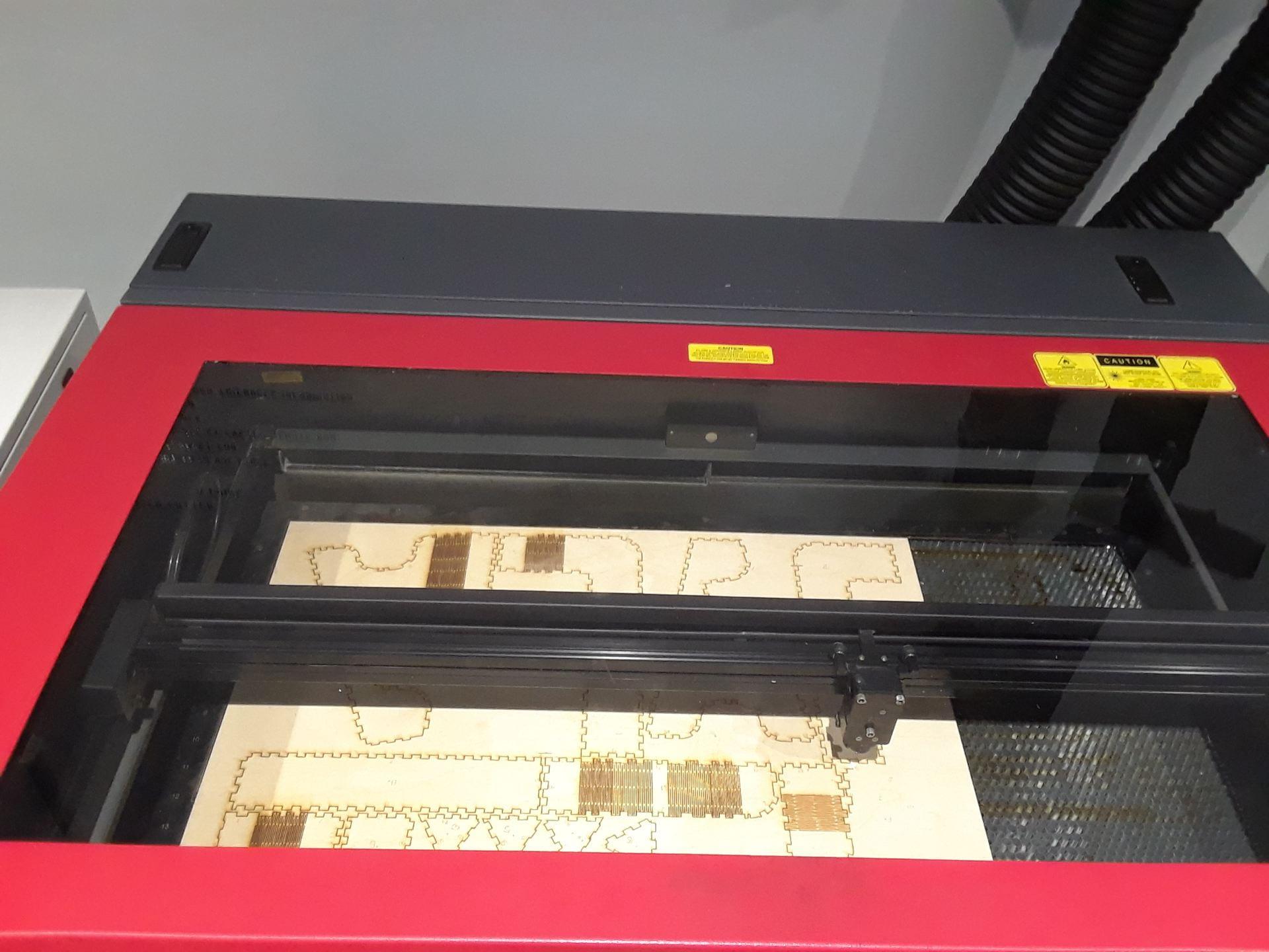 plywood being cut in VLS 6.60