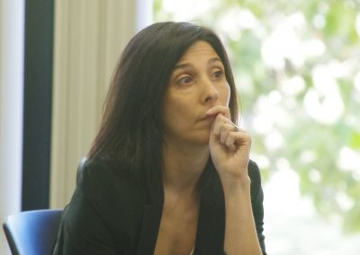 CHAS Fellow Rena Conti Listens to Lecture (Autumn 2017)