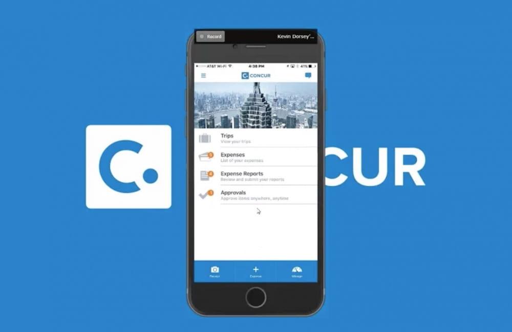 concur mobile app