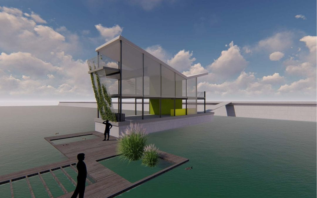 Energy and Water Autonomy for Off-Grid Waterfront Floating Structures