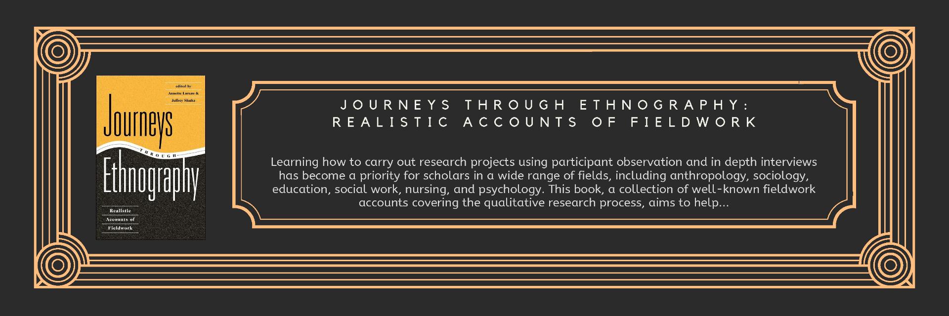 Book Journeys Through Ethnography