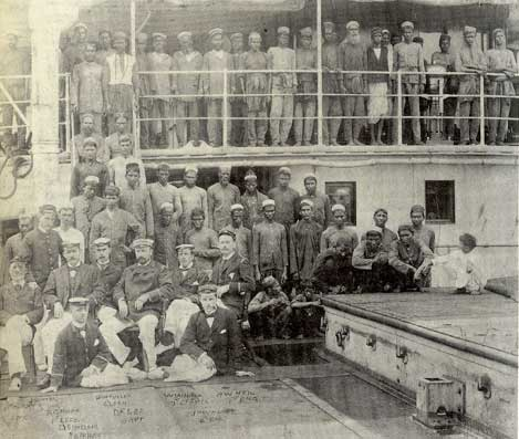 A 19th Century photograph of a crew of lascars