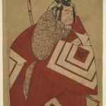 The Actor Ichikawa Danzo III as Kamakura no Gongoro Kagemasa (?) in the Play Otokoyama Yunzei Kurabe (?), Performed at the Ichimura Theater (?) in the Eleventh Month, 1768 (?)