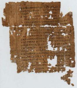 Oxyrhynchus Papyrus 1