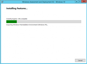 ADK for Windows 10 installing on Windows Server 2012 R2