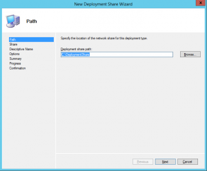 New Deployment Share Path