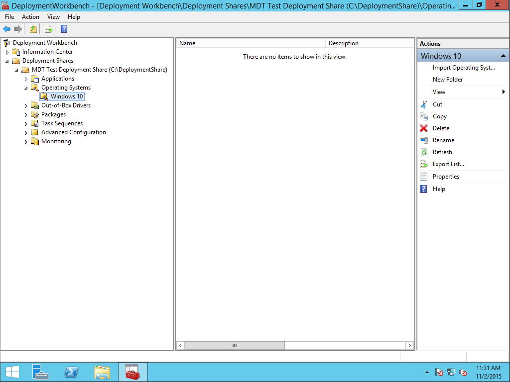 MDT, Importing an Operating System | Jason Watkins