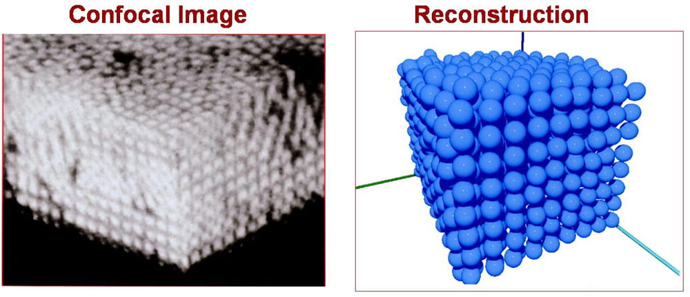 micron-size PMMA particles in an organic solvent images