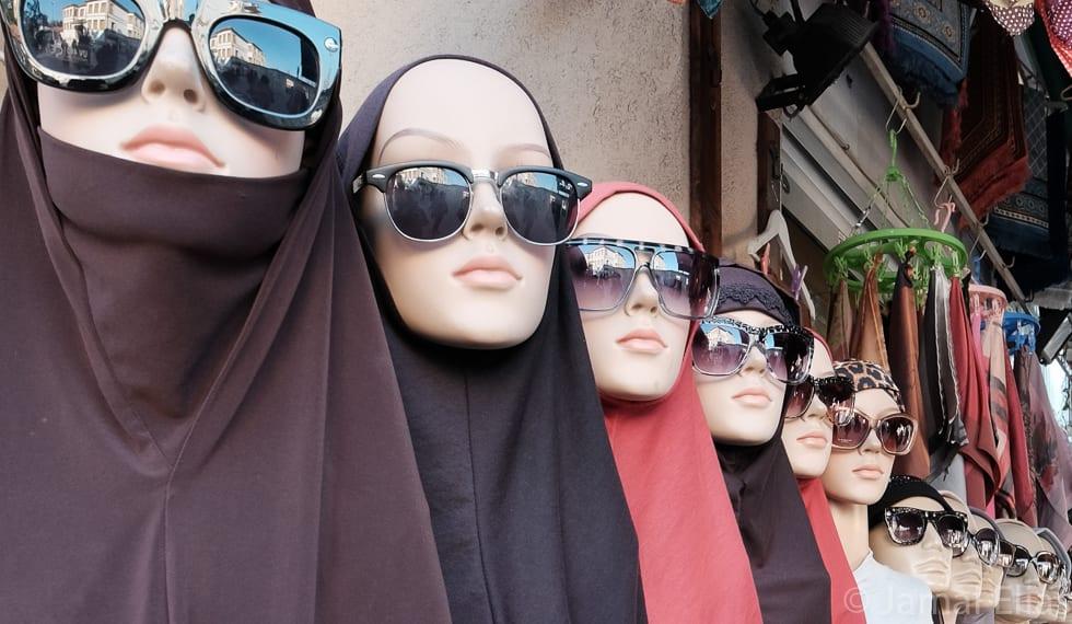 Stall selling headscarves, Istanbul, Turkey
