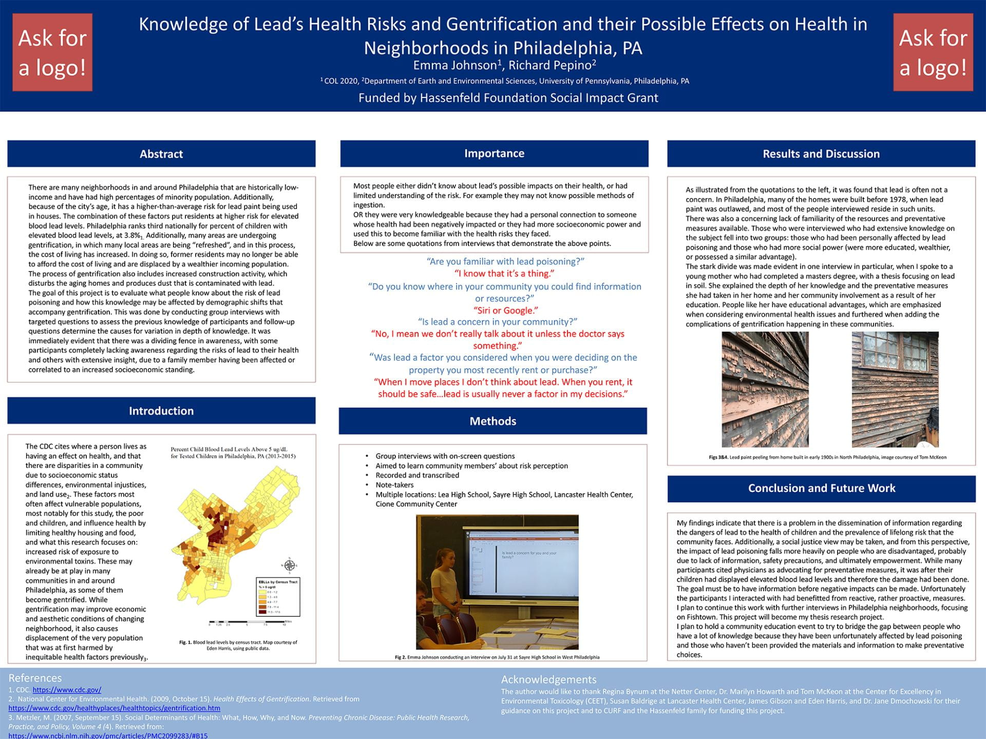 Lead and Gentrification Poster