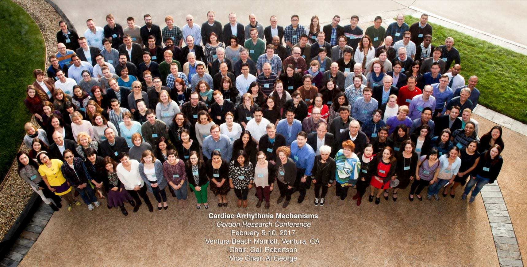"Group Photo of Participants at the 2017 ""Cardiac Arrhythmia Mechanisms"" Gordon Research Conference - Ventura, CA"