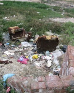 This garbage would not be left around some other area where there is more money. It would be picked up by the municipality. - Luphumlo Klaas
