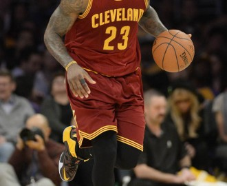 Jan 15, 2015; Los Angeles, CA, USA; Cleveland Cavaliers forward LeBron James (23) in the first half against the Los Angeles Lakers during the NBA game at Staples Center. Mandatory Credit: Richard Mackson-USA TODAY Sports