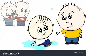 stock-vector-kid-offers-help-to-stand-up-to-1