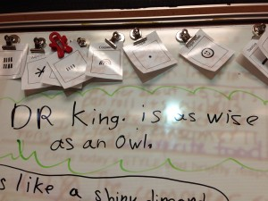 Dr. King is as Wise as an Owl