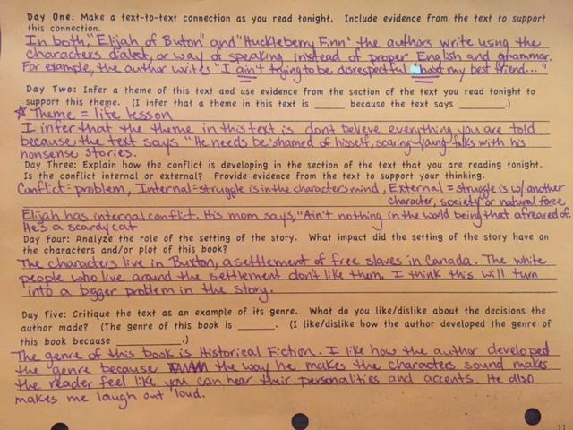 Reading Log Example | Kelley\'s Chronicle