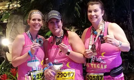 Gibbs Competes in Vegas Half-Marathon Race