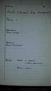 Math-Element Key Assignment Sample