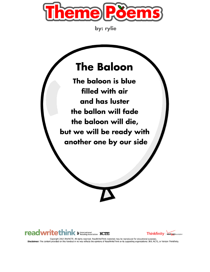 Ballad Poems About Balloons 47