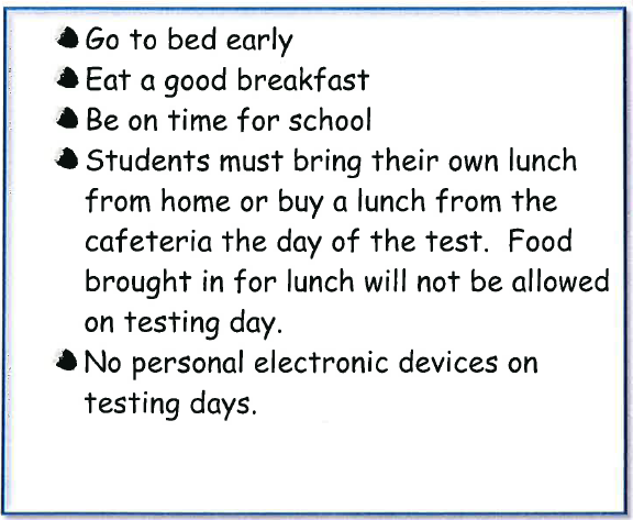 STAAR Testing for 3rd, 4th, and 5th Grades   White Oak