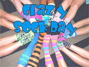 Crazy socks keep your feet warm and support our drug free pledge
