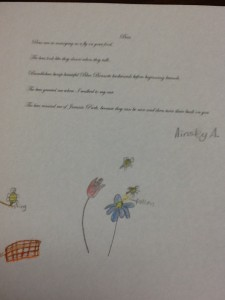 Spring Poem Ainsley A.
