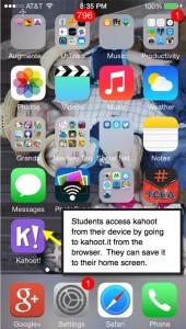 kahoot on device