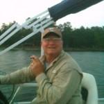 My sweet husband, Mark, taking me fishing.