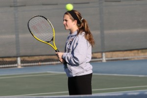 Returning girls doubles varsity, Niki Barham.