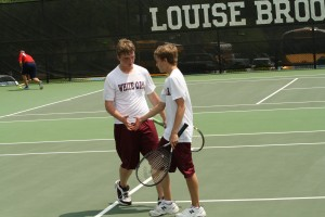 Tanner Davis and Nick McFarland, returning boys doubles and regional semi-finalists 2013.