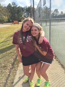 Cayman Sutton & Niki Barham 2nd place Girls Doubles Hallsville Tourney