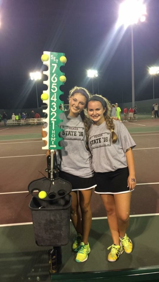 Cayman and Niki at state tourney in College Station.